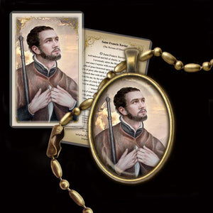 St. Francis Xavier Pendant & Holy Card Gift Set