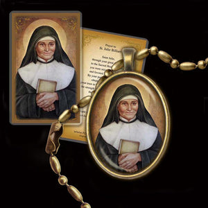 St. Julie Billiart Pendant & Holy Card Gift Set
