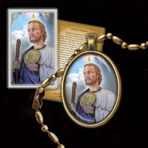 St. Jude Pendant & Holy Card Gift Set