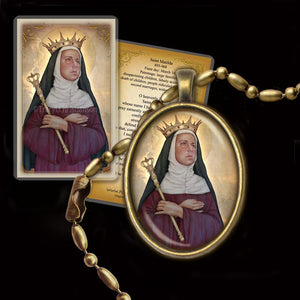 St. Matilda Pendant & Holy Card Gift Set