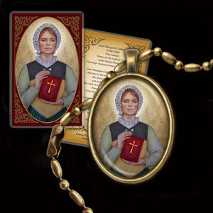 St. Margaret Clitherow Pendant & Holy Card Gift Set