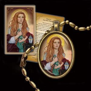 St. Mary Magdalene (B) Pendant & Holy Card Gift Set