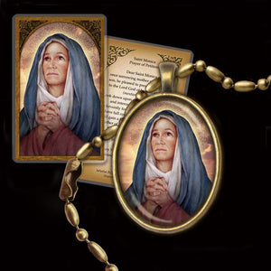 St. Monica Pendant & Holy Card Gift Set
