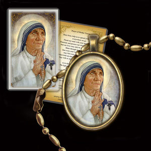 St. Mother Teresa of Calcutta (B) Pendant & Holy Card Gift Set