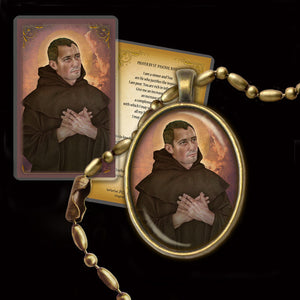 St. Paschal Baylon Pendant & Holy Card Gift Set