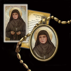 St. Rafqa Pendant & Holy Card Gift Set