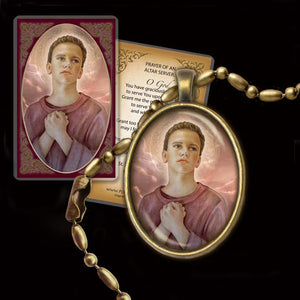 St. Tarcisius Pendant & Holy Card Gift Set