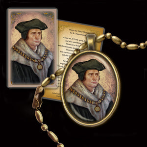 St. Thomas More Pendant & Holy Card Gift Set