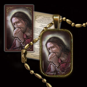 Agony of Jesus Pendant & Holy Card Gift Set