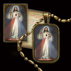Divine Mercy Pendant & Holy Card Gift Set