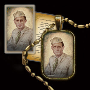 Servant of God Fr. Emil Kapaun Pendant & Holy Card Gift Set
