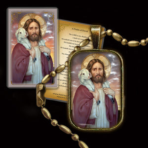 The Good Shepherd Pendant & Holy Card Gift Set