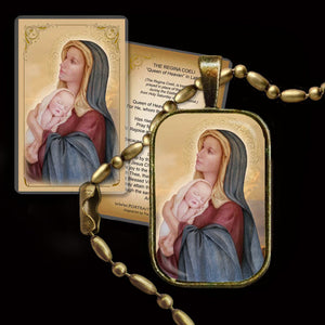 Madonna & Child (E) Pendant & Holy Card Gift Set