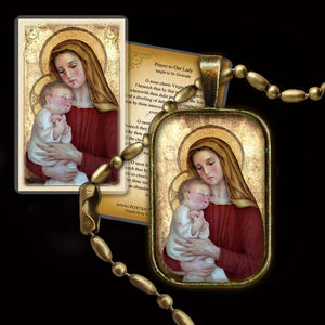 Madonna & Child (G) Pendant & Holy Card Gift Set