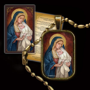 Madonna & Child (H) Pendant & Holy Card Gift Set