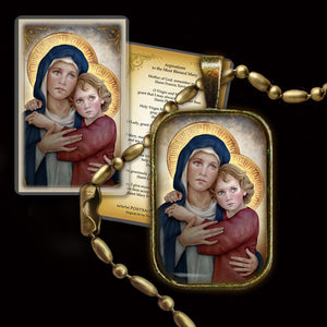 Madonna & Child (M) Pendant & Holy Card Gift Set