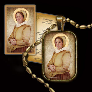 St. Anne Line Pendant & Holy Card Gift Set