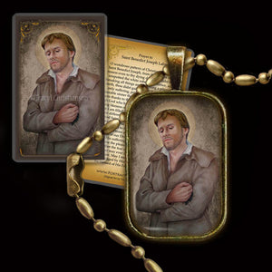 St. Benedict Joseph Labre Pendant & Holy Card Gift Set