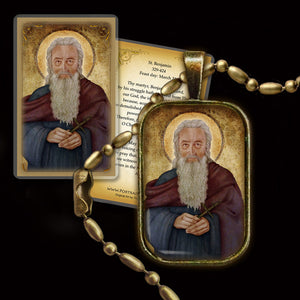 St. Benjamin Pendant & Holy Card Gift Set