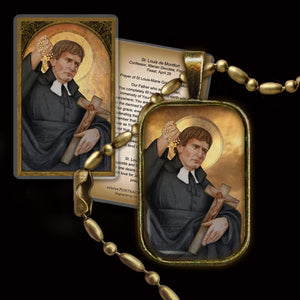 St. Louis-Marie Grignion de Montfort Pendant & Holy Card Gift Set