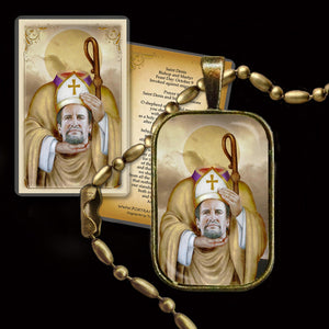 St. Denis Pendant & Holy Card Gift Set