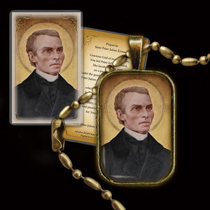 St. Peter Julian Eymard Pendant & Holy Card Gift Set