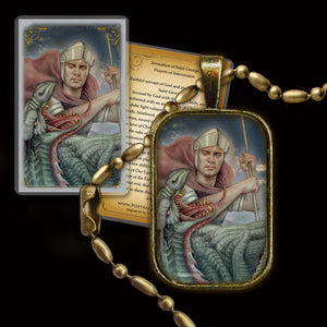 St. George Pendant & Holy Card Gift Set