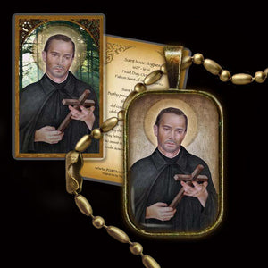 St. Isaac Jogues Pendant & Holy Card Gift Set