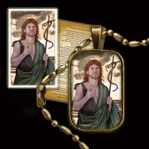 St. John the Baptist Pendant & Holy Card Gift Set