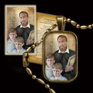 St. Jerome Emiliani Pendant & Holy Card Gift Set