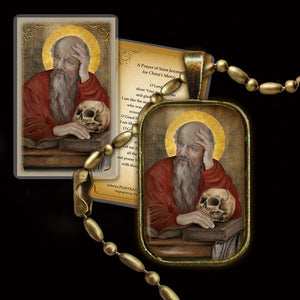 St. Jerome Pendant & Holy Card Gift Set