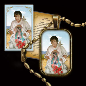 St. Juan Diego Pendant & Holy Card Gift Set