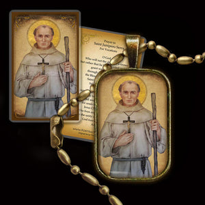 St. Junipero Serra Pendant & Holy Card Gift Set