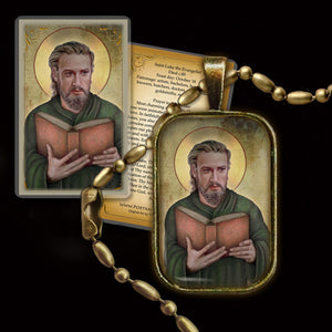 St. Luke the Evangelist Pendant & Holy Card Gift Set