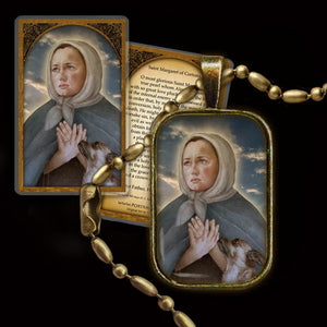 St. Margaret of Cortona Pendant & Holy Card Gift Set