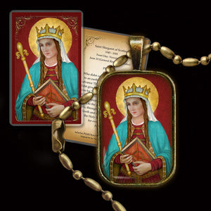 St. Margaret of Scotland Pendant & Holy Card Gift Set