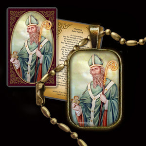 St. Patrick Pendant & Holy Card Gift Set