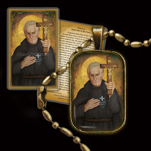 St. Paul of the Cross Pendant & Holy Card Gift Set