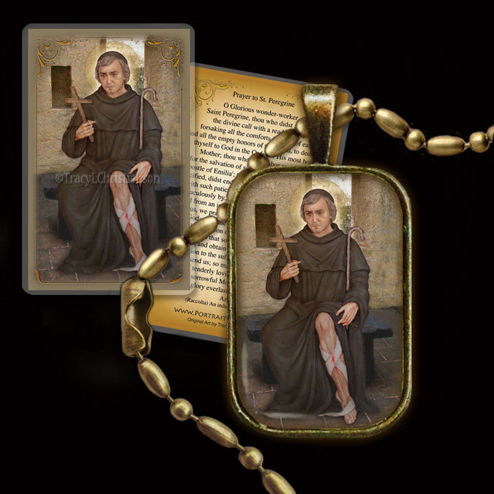 99bfdf30a6d St. Peregrine Laziosi Pendant & Holy Card Gift Set - Portraits of Saints