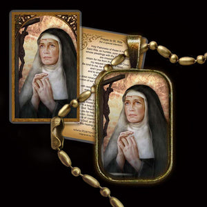 St. Rita of Cascia Pendant & Holy Card Gift Set