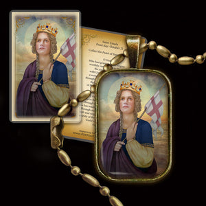 St. Ursula Pendant & Holy Card Gift Set