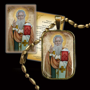 St. Ignatius of Antioch Pendant & Holy Card Gift Set