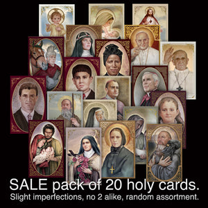 SALE pack of 20 Holy Cards