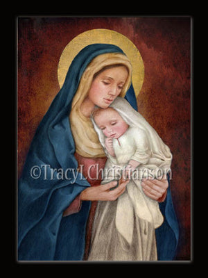 Christmas Card Madonna & Child (H)