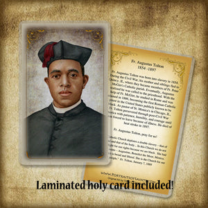 Fr. Augustus Tolton Plaque & Holy Card Gift Set