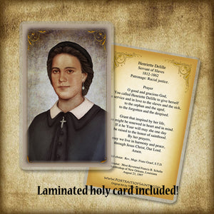 Henriette DeLillie Pendant & Holy Card Gift Set