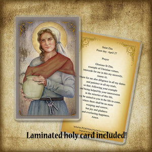 St. Zita Pendant & Holy Card Gift Set