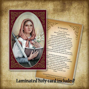 St. Dymphna Pendant & Holy Card Gift Set