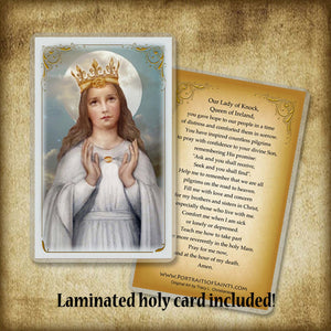 Our Lady of Knock Pendant & Holy Card Gift Set
