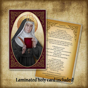 St. Hildegard of Bingen Pendant & Holy Card Gift Set